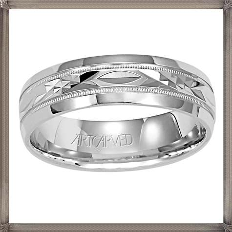 diamond-cut-detailing-this-stylish-mens-wedding-band 5 CRITICAL Tips You Should Keep in Mind When Buying Men's Silver Wedding Bands