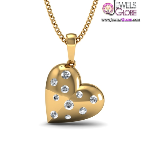 diamond-heart-with-18kt-yellow-gold-pendent-for-women The 29 Most Popular Gold Pendant Designs For Women