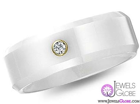 diamond-white-ceramic-wedding-bands-for-men Best 23 White Ceramic Wedding Bands for Men