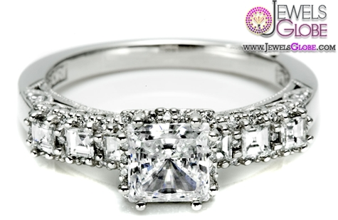 entrancingly-antique-vibe-7-stone-diamond-antique-ring 18 Best Antique Wedding Rings Designs for Women