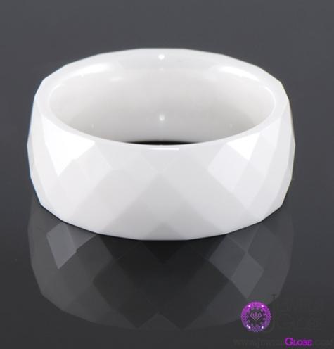 flat-mens-white-ceramic-wedding-bands Best 23 White Ceramic Wedding Bands for Men