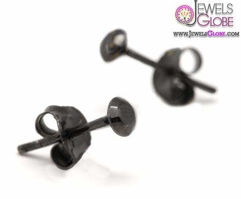 gold-black-diamond-stud-earrings Latest Fashion Black Diamond Earrings For Women