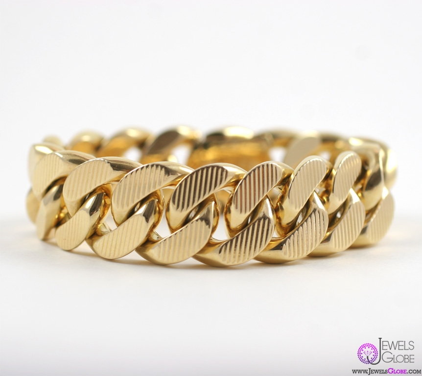 gold-chain-link-bracelet-for-women 18 Hot Gold Link Bracelets Designs