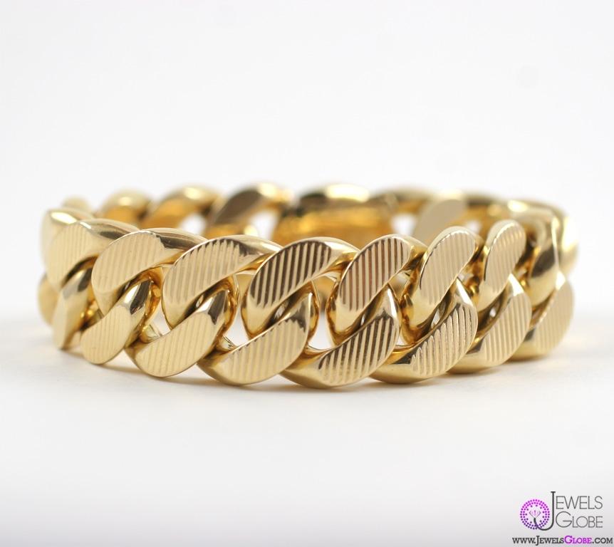 gold-chain-link-bracelet-for-women 18 Hot Gold Link Bracelets Designs