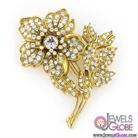 gold-flowerr-brooch Top 14 Antique Gold Brooches for Women