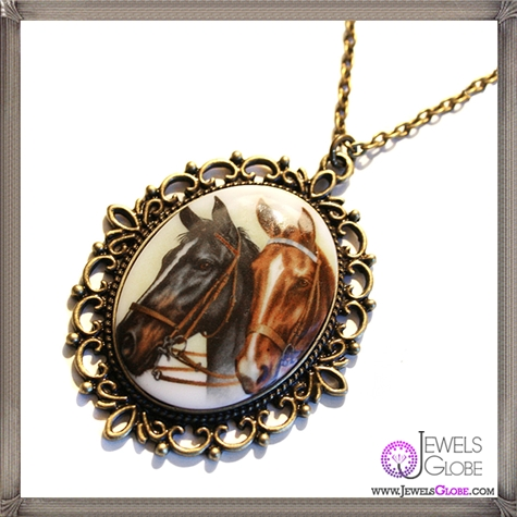 gorgeous-Horse-Play-Cameo-Necklace-EXCLUSIVE-to-Cheap The 13 Most Stylish Cheap Cameo Necklaces