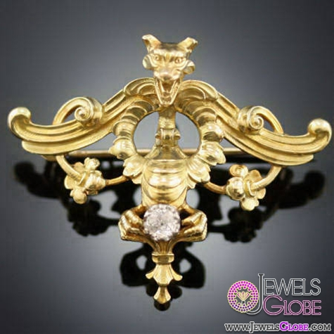 hallmarks-monocolor-victorian-gold-diamond-platinum-brooch Top 14 Antique Gold Brooches for Women