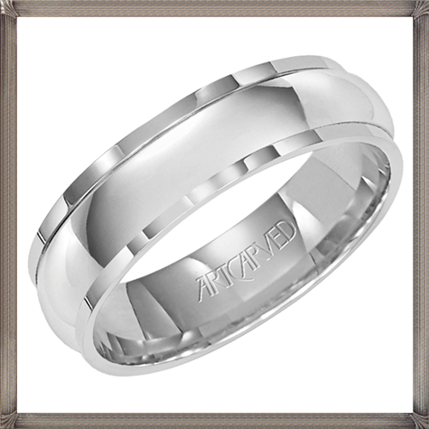 high-polish-finish-white-gold-mens-wedding-band 5 CRITICAL Tips You Should Keep in Mind When Buying Men's Silver Wedding Bands