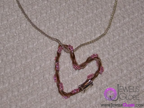 horse-hair-beaded-heart-pendant-necklace The 33 Most Popular Horse Hair Jewelry Designs