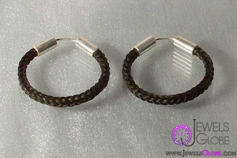 horse-hair-earrings-silver-jewelry The 33 Most Popular Horse Hair Jewelry Designs