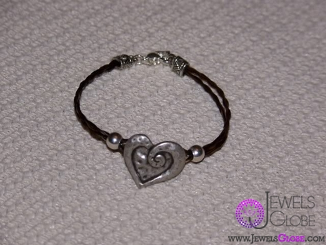 horse-hair-heart-bracelet The 33 Most Popular Horse Hair Jewelry Designs