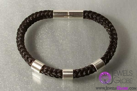 horse-hair-silver-bracelet-jewellery The 33 Most Popular Horse Hair Jewelry Designs