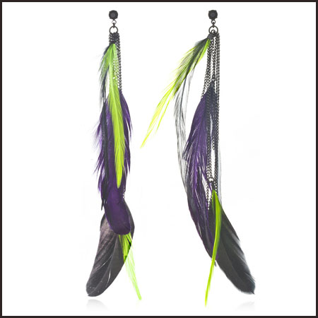 hot-long-feather-earring Hottest Long Feather Earrings: Great Colors