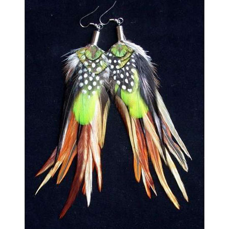 hot-long-feather-earrings Hottest Long Feather Earrings: Great Colors