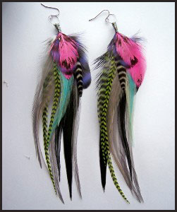 hot-pink-super-long-feather-earring Hottest Long Feather Earrings: Great Colors
