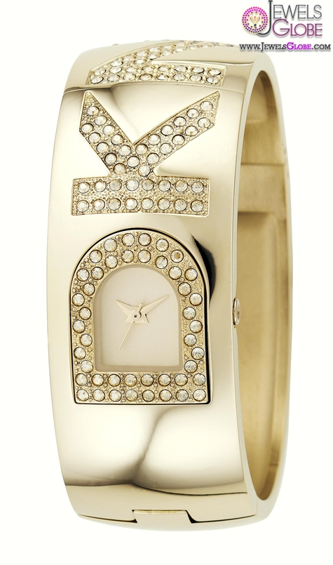 ladies-dkny-gold-tone-bangle-watch The Best DKNY Watches For Women