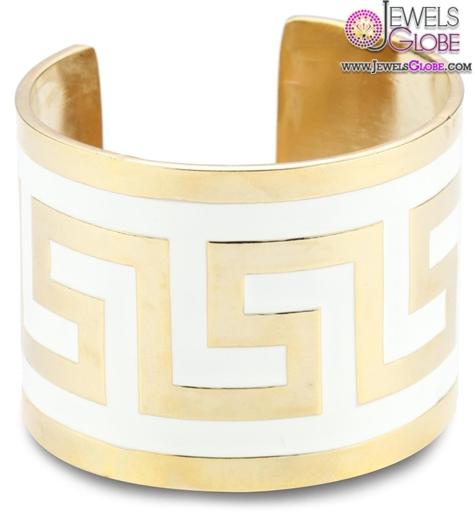 lisa-stewart-modern-myth-14k-gold-plated-white-cuff-bracelet 35 Hot Cuff Bracelets For Women
