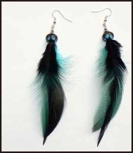 long-feather-earrings-great-colors Hottest Long Feather Earrings: Great Colors