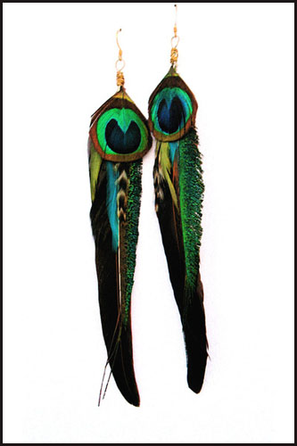 long-feather-macaw-earring Hottest Long Feather Earrings: Great Colors