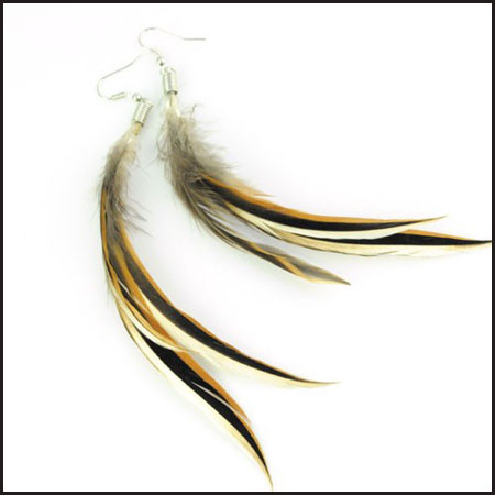 long-feather_earringsmany-colors Hottest Long Feather Earrings: Great Colors
