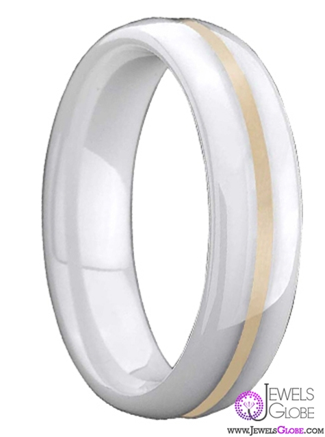 mens-white-ceramic-wedding-bands-with-yellow-gold Best 23 White Ceramic Wedding Bands for Men