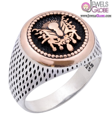 ottoman-emblem-signature-of-sultan-and-turkey-flag-sterling-silver-ring 19 Awesome Mens Sterling Silver Rings