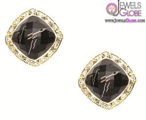 oversized-black-diamond-stud-earrings-for-women Latest Fashion Black Diamond Earrings For Women
