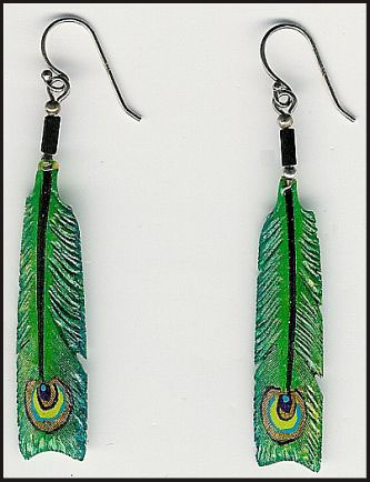 peacock-long-feather-earrings Hottest Long Feather Earrings: Great Colors