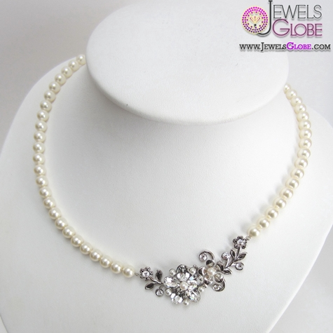 pearl-white-gold-necklace Top 20 Pearl Gold Necklace Designs