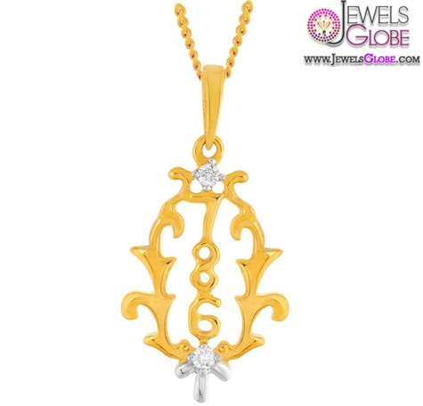 pendant-in-gold-and-diamond-for-women The 29 Most Popular Gold Pendant Designs For Women
