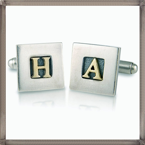 personalised-silver-and-9ct-gold-cufflinks-by-nick-hubbard-jewellery personalised cufflinks for men