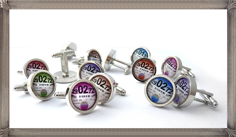 personalised-tax-disc-cufflinks personalised cufflinks for men