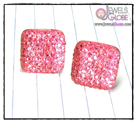 pink-square-earrings Art of Wearing Jewelry for Young Girls