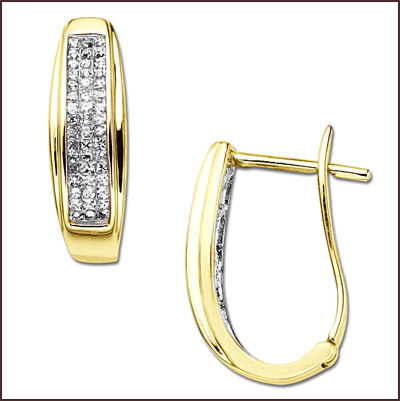 princess-cut-diamond-hoop-earrings Princess Cut Diamond Hoop Earrings: Styles You Should See