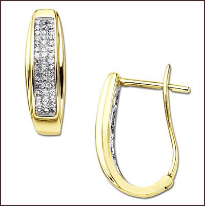 princess-cut-diamond-hoop-earrings Princess Cut Diamond Hoop Earrings: Styles You Should See