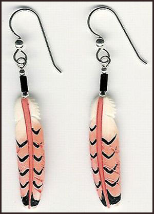 redtail-hawk-long-feather-earrings Hottest Long Feather Earrings: Great Colors