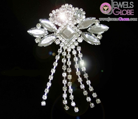 rhinestone-bridal-brooches The 11 Best Designs of Rhinestone Brooches for Women