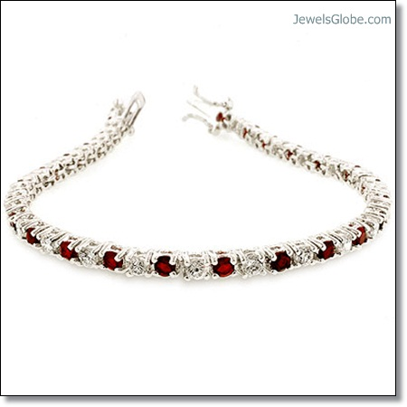 ruby-and-diamond-cz-tennis-bracelet The 16 Top Ruby Tennis Bracelet Designs