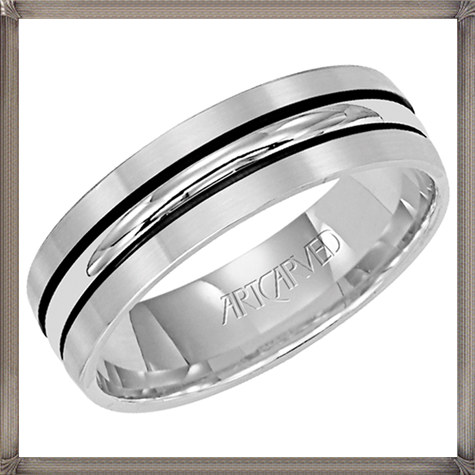 two-antiqued-metal-stripes-this-satin-finish-mens-wedding-band 5 CRITICAL Tips You Should Keep in Mind When Buying Men's Silver Wedding Bands