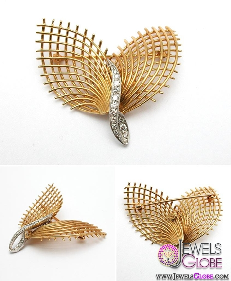 vintage-diamond-gold-brooch-and-pin Top 14 Antique Gold Brooches for Women