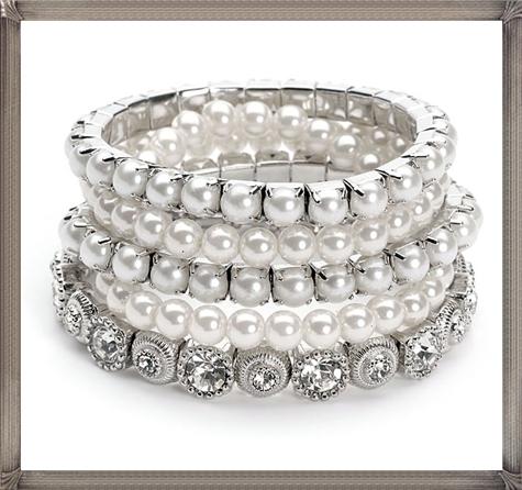 vintage-style-bracelet-set-consists-of-5-stands 28+ Most Amazing Pearl Bracelets For Brides in 2020