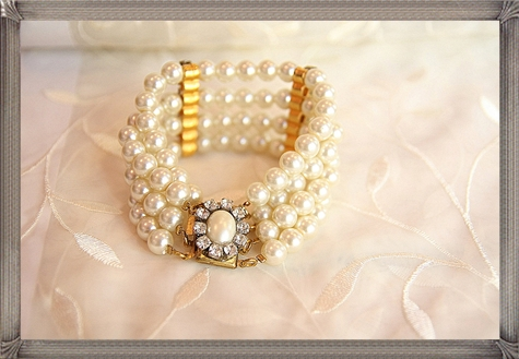 wedding-JewelryBridal-JewelryVictorian-Style-Bridal-BraceletPearls 28+ Most Amazing Pearl Bracelets For Brides