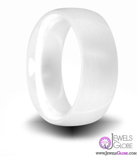 white-ceramic-men-wedding-bands Best 23 White Ceramic Wedding Bands for Men
