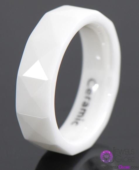 white-ceramic-wedding-band-for-men Best 23 White Ceramic Wedding Bands for Men