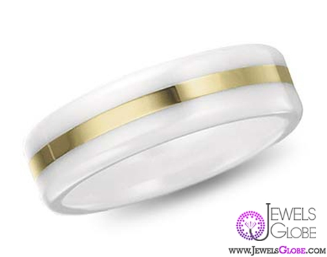 white-ceramic-wedding-band-with-gold Best 23 White Ceramic Wedding Bands for Men