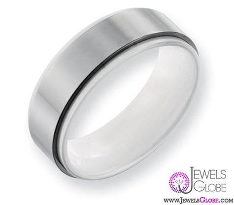 white-ceramic-wedding-bands Best 23 White Ceramic Wedding Bands for Men