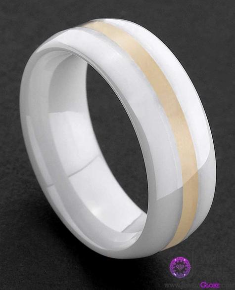 white-ceramic-wedding-mens-band Best 23 White Ceramic Wedding Bands for Men