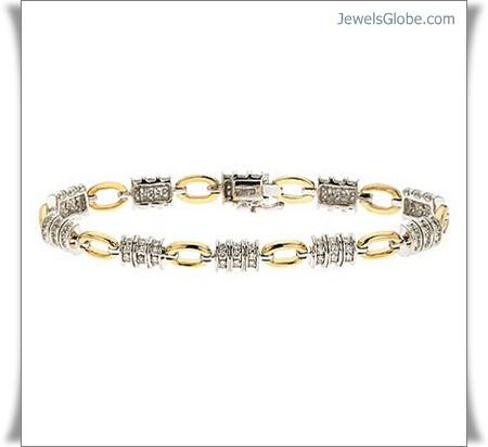 yellow-gold-gem-stone-diamond-bracelet 18 Best Gold Gemstone Bracelets Designs